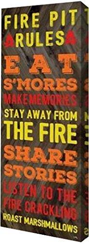 "Fire Pit Rules by Elizabeth Medley - 11"" x 30"" Gallery"