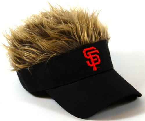 MLB San Francisco Giants Flair Hair Adjustable Visor, (Golf Visors With Hair)