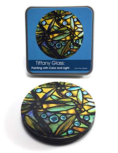 Coaster Set (4) -Tiffany Dragonfly ()