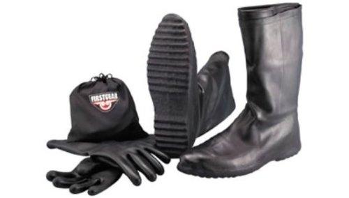 Firstgear Mens Rubber Black Boot - L by Firstgear