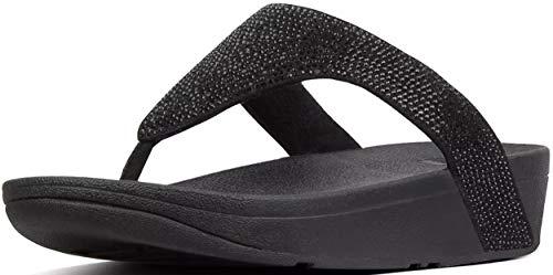 3 Flip Black black Women's Shimmercrystal 3 Fitflop™ Microfibre Lottie™ Flop Size Igq81nw