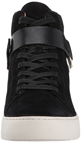 Frye Womens Lena Harness High Fashion Sneaker Nero Morbido Pelle Scamosciata Oliata