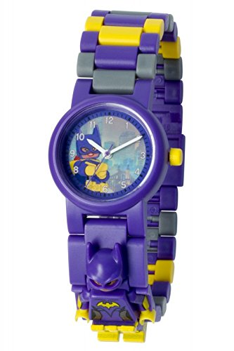 - Lego Batman Movie 8020844 Batgirl Kids Minifigure Link Buildable Watch | Purple/Yelow | Plastic | 25mm case Diameter| Analog Quartz | boy Girl | Official