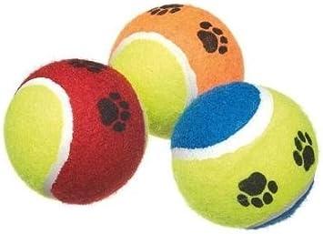 Takestop® Juego 3 Pelotas pelota de tenis perro juegos lanzador ...