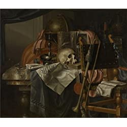 Oil Painting 'Vanitas By Franciscus Gijsbrechts, Second Half Of 17th Century' 18 x 21 inch / 46 x 53 cm , on High Definition HD canvas prints is for Gifts And Game Room, Kitchen And Living Roo decor