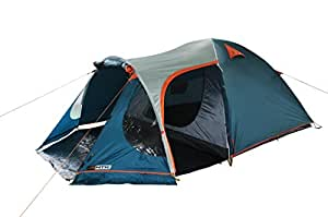 NTK INDY GT 4 to 5 Person 12.2 by 8 Foot Outdoor Dome Family Camping Tent 100% Waterproof 2500mm, European Design, Easy Assembly, Durable Fabric Full Coverage Rainfly - Micro Mosquito Mesh