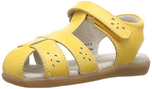 See Kai Run Girls' Gloria III Fisherman Sandal, Yellow, 9 M US Toddler