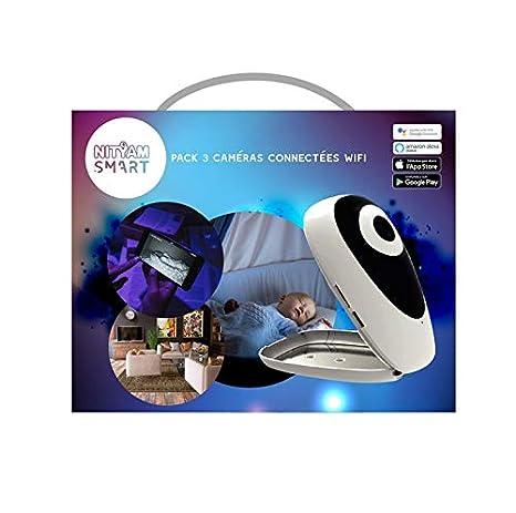 Kit de 3 cámaras Wifi HD - visión nocturna - detector de movimiento y sensor de