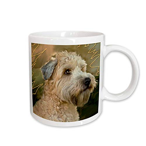 3dRose Soft Coated Wheaten Terrier Portrait Ceramic Mug, 15-Ounce