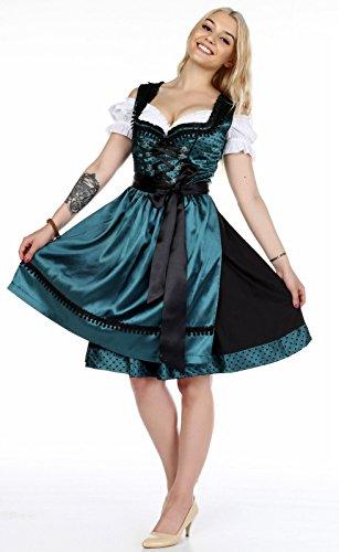 Dirndl 3 tlg.Trachtenkleid Kleid mit Bluse und Schürze,Oktoberfest viele Modelle in verschiedenen Größen (34 - 46) und Farben