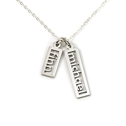 - AJ's Collection Personalized Necklace Open Double Sterling Silver or 14k Gold Plate over Sterling Silver (18)