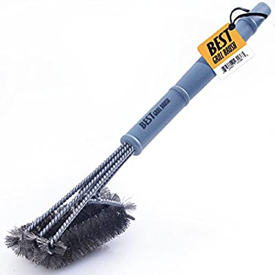 """Best BBQ Grill Brush Stainless Steel 18"""" Barbecue Cleaning Brush w/Wire Bristles & Soft Comfortable Handle - Perfect Cleaner & Scraper for Grill Cooking Grates by Best"""