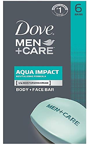 Dove Men + Care Body & Face Bar, Aqua Impact 4 oz, 6 ea (Pack of 5) by Dove (Image #1)
