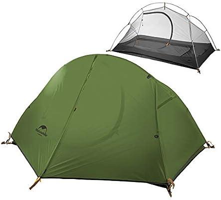 iBasingo Tienda Camping Carpa Ultraligera Individual Capa Doble Montar en el Exterior Carpa Impermeable contra el Agua Tormenta para excursiones de Auto-conducción Mochilero NH18A095-D20D: Amazon.es: Deportes y aire libre