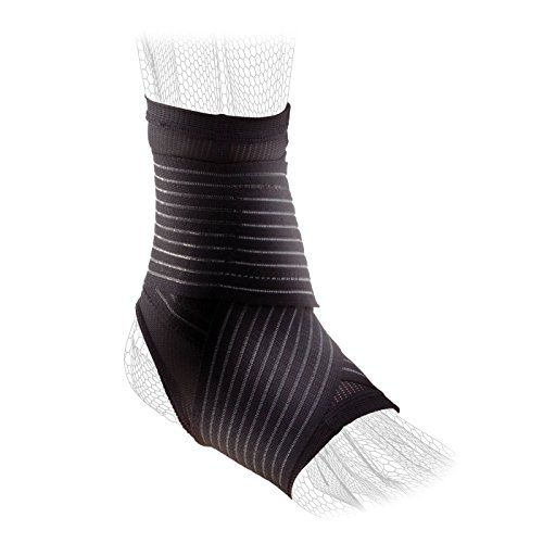 DonJoy Performance Figure 8 Ankle Sleeve with Straps for Moderate Support – Ankle Sprains, Strains, Inflammation, Swelling, Pain – Small