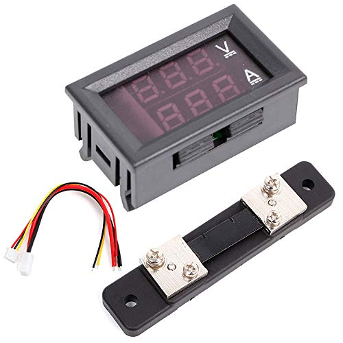 4 Digital Ampere Meter 0-50A DC Blue LED Display Ammeter Shunt High Precision