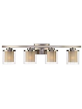 Dolan Designs 3954-09 Horizon 4 Light Bathroom Fixture, Satin ...