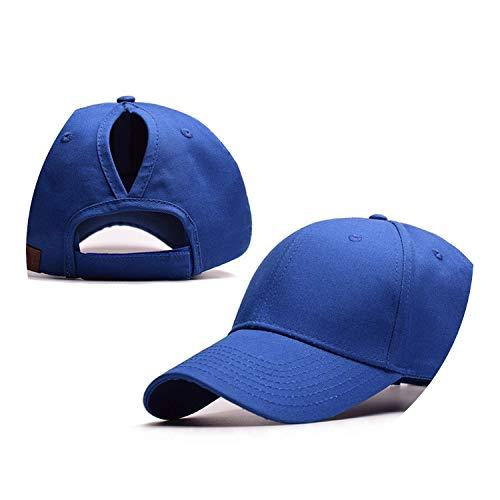 野球帽のキャップンスタイルのオープンポニーテールキャップ カスタマイズ 帽子,ロイヤルブルー,