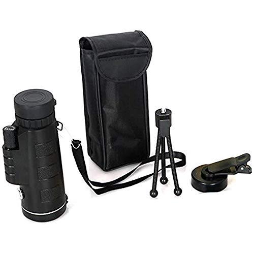 HD単眼望遠鏡ポータブル双眼鏡40 x 60デュアルフォーカスで狩猟旅行観覧イベント無料三脚   B07NW47BXS