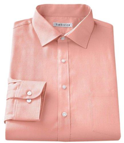 Van heusen mens classic fit spread collar dress shirt 18 1 for Van heusen men s regular fit pincord dress shirt