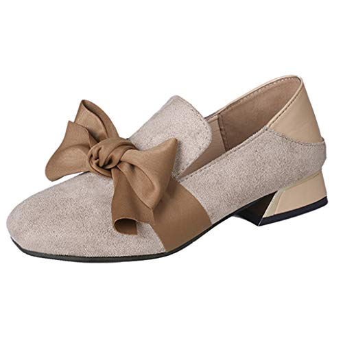 Planos Mocasines Diario Oficina Khaki Uso Náuticos Y Comodos Adecuado Plataforma Para Mujer Zapatos Bowknot Zapatillas U1pwp