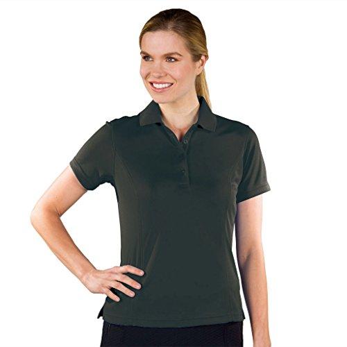 Price comparison product image Monterey Club Dry Swing Lightweight Pique Solid Shirt 2070 (Black,  Medium)