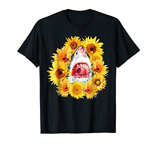 - Shark Sunflower Funny Shark Lover Gift T-shirt