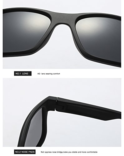 Sol para Mujer Gafas C2 para De Hombre C2 Aviator 400 UV Protección Polarizadas Oqww5XY