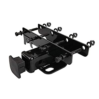 AUXMART 2inch Receiver Hitch Kit Black with Wiring Harness for 2007-2020 Jeep Wrangler JK 2Dr & 4Dr: Automotive