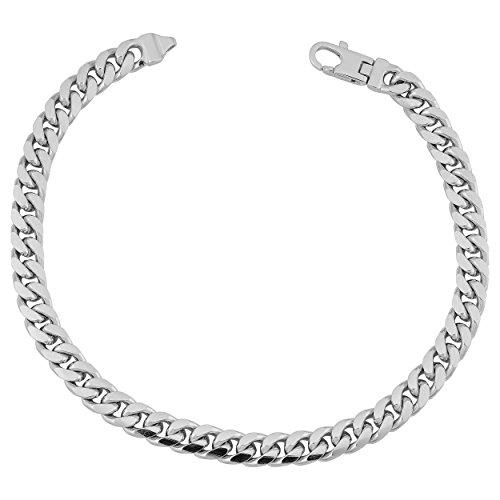 Bold Curb Link Bracelet - Sterling Silver Bold Curb Link Men's Bracelet (5.8mm, 8.5 inch)