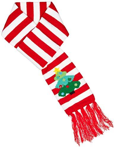 Lotsa Lites! Flashing Holiday Christmas Knitted Scarves (Christmas Tree)
