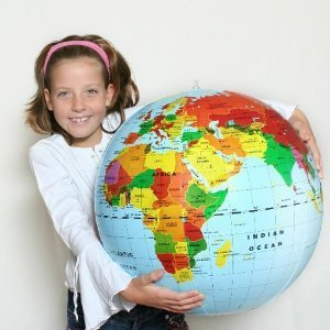 Inflatable World Globe 20