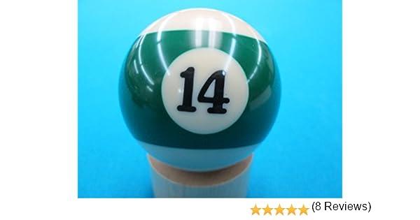 14 de Repuesto de Billar Bolas de Billar, Verde diseño de Rayas: Amazon.es: Deportes y aire libre