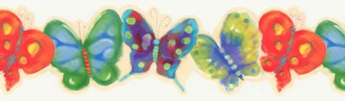 - Store51 Jelly Butterfly Bugs Prepasted Wallpaper Border Roll
