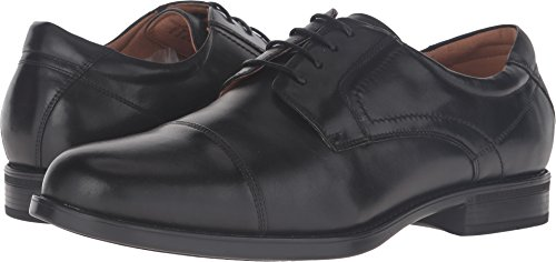 Florsheim Men's Midtown Cap Toe Oxford,Black Smooth Leather,US 11 ()