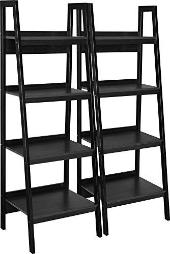 Ameriwood Home Lawrence 4 Shelf Ladder Bookcase Bundle, Black by Ameriwood Home (Image #3)