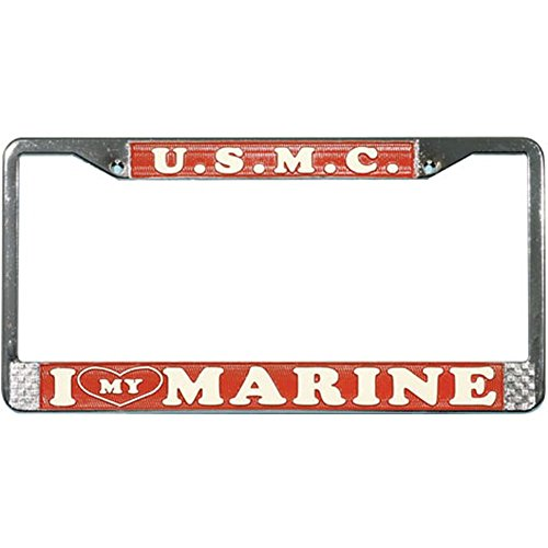 Honor Country I Love My Marine License Plate Frame
