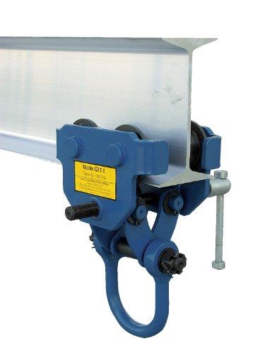 Vestil QIT-4 Steel Quick Install Manual Trolley with Powder Coat Finish, 4,000-lb. Capacity, 3 - 7-1/2'' Beam Flange Width, 10'' Headroom by Vestil (Image #1)