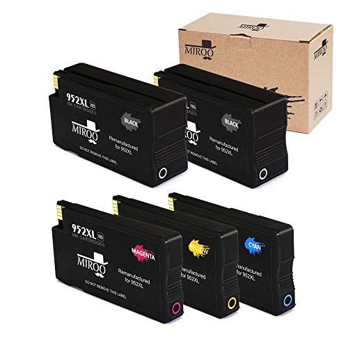 MIROO Remanufactured Ink Cartridge Replacement for HP 952xl 952 High Yield, Use on HP OfficeJet Pro 8710 8720 7740 8740 8715 8725 8730 8702 8216 8218 8716 8728 Printer (2 Black 1 Cyan/Magenta/Yellow)