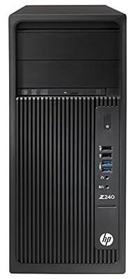 HP L9K20UT#ABA Workstation Z240 Mini Desktop, 16 GB RAM, 256 GB SSD, Intel HD Graphics 530, Black