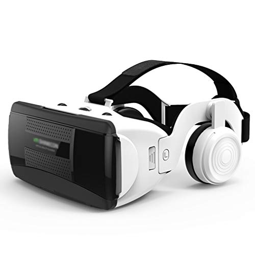 YC electronics Virtual Reality Headset VR Goggles Glasses VR Glasses Smart 3D Game Console Virtual Reality Headset Supports 4.7-6.1 Inch Screen (Color : White)