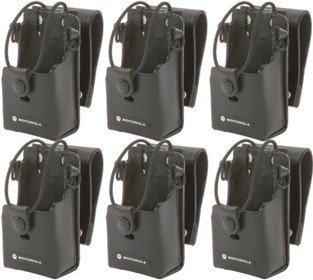Motorola RLN6302 Leather Case With 3-Inch Swivel (6-Pack) by Motorola