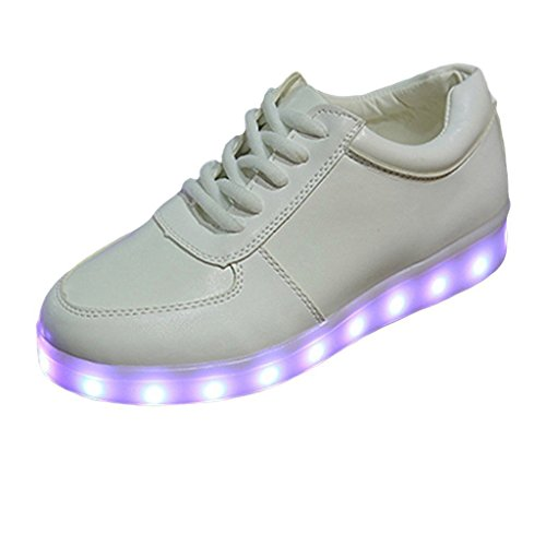 Aufladen für Unis LED Sportschuhe Leuchtend Schuhe Present JUNGLEST Weiß Sport Sneaker kleines 7 Farbe Turnschuhe USB Handtuch U6Ywq4