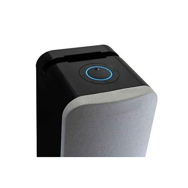 Metronic 477092 Colonne Bluetooth Nuances de Grey 240 W avec USB Play & Charge / Radio FM / Réglage des basses 4