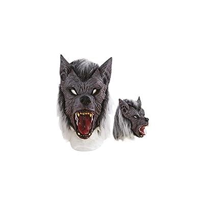 P'TIT CLOWN-Masque Latex Intégral Loup Garou, Unisex-Adult, 10178, Taille Unique