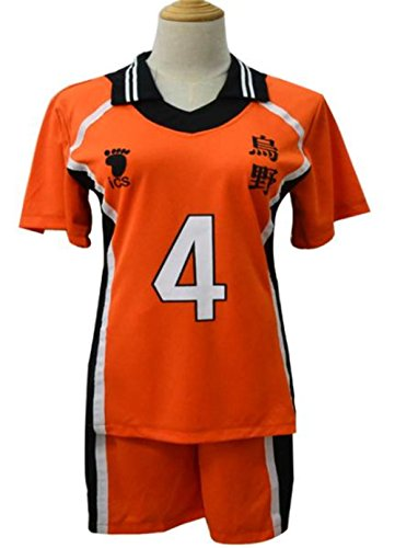 LDamcom Haikyuu Karasuno High School Uniform Jersey Volleyball Cosplay (Haikyuu Cosplay Costume)