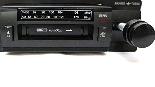 kraco kid-581 vintage 2 knob car audio stereo cassette tape player deck w/  am/fm radio for classic cars