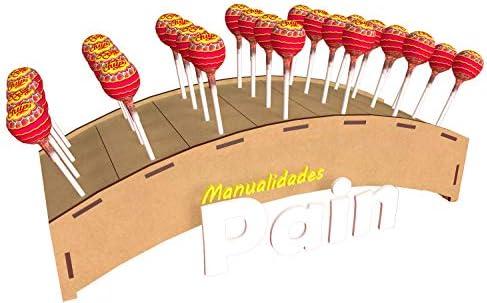 Kit para hacer porta chupetines/chupachups de madera DM para candy ...
