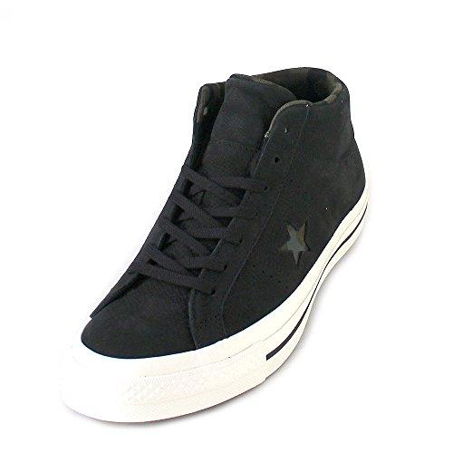 Converse Herren Schuhe/Sneaker One Star Mid Schwarz (black/egret/herbal)