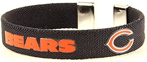 aminco NFL Chicago Bears Ribbon Cuff Braceletnfl Ribbon Cuff Bracelet, Blue, (Bears Nfl Candle)